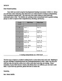 DRA Level Chart Parent Letter (Editable)