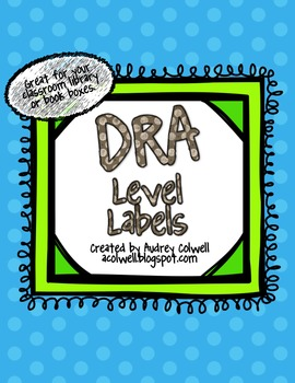 DRA Level Labels