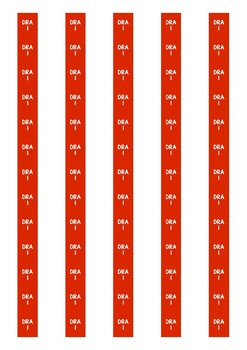 DRA Level Spine Labels: Level 1 - Avery A4 L7651