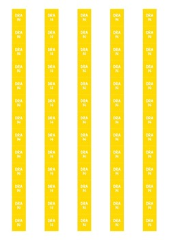 DRA Level Spine Labels: Level 14 - Avery A4 L7651