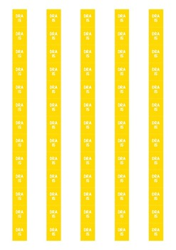 DRA Level Spine Labels: Level 15 - Avery A4 L7651