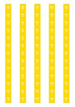 DRA Level Spine Labels: Level 18 - Avery A4 L7651