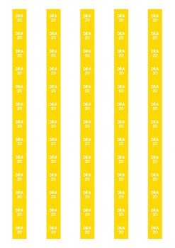DRA Level Spine Labels: Level 20 - Avery A4 L7651
