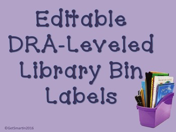 DRA-Leveled Library Bin Labels