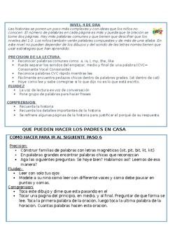 DRA Levels in Spanish