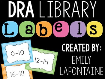 DRA Leveled Library Labels