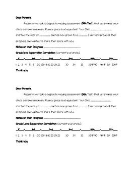 DRA Progress Parent Letter / DRA EDL 2