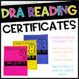 DRA Reading Certificates Level 1-40