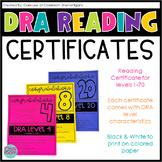 DRA Reading Certificates Level 1-40 {EDITABLE!}