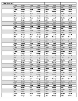 DRA Recording Sheet- 4 quarters