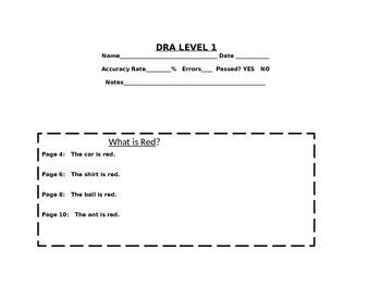 DRA Running Record Sheets