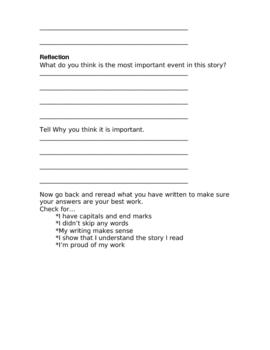 DRA Written Retell Practice Packet