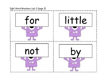 High Frequency Words Flashcards (K-3) or Word Wall Words