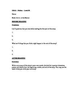 """DRA2 Questioning Sheet for """"A.L.L. to the Rescue"""""""