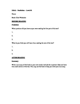 DRA2 Questioning Sheet for Chief Washake