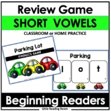CVC Phonics Spelling Game (Short Vowels CVC Parking Lot Game)