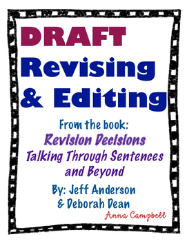 DRAFT - Revising and Editing