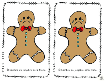 Spanish Emergent Reader: Gingerbread Emotions Book