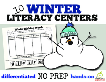 Winter Literacy Centers: 10 Making Words Activities