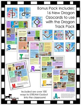 OZOBOT defends against DRAGONS Ozocard Track Pack