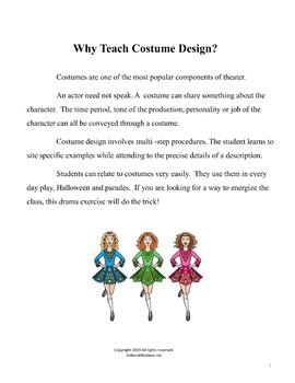 DRAMA LESSON: COSTUME DESIGN WITH HOLIDAY PARADE CHARACTERS