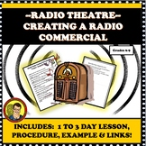 DRAMA LESSON:  RADIO THEATER LESSON-VINTAGE RADIO COMMERCIAL