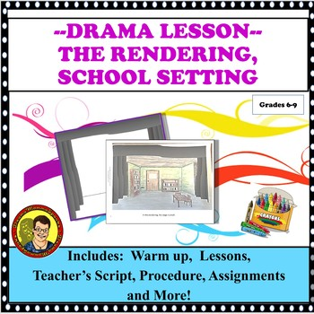 DRAMA LESSON: SET DESIGN THE RENDERING/ SCHOOL SETTING DISTANCE LEARNING