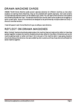 Drama MACHINES : Drama Machine Instructions + 13 Drama Machine Elements Cards