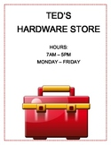 DRAMATIC PLAY - Hardware Store