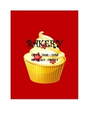 DRAMATIC PLAY THEME SIGNS - Bakery