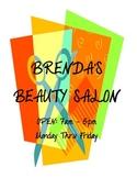 DRAMATIC PLAY THEME SIGNS- Beauty Salon