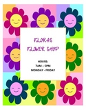 DRAMATIC PLAY THEME SIGNS- Flower Shop
