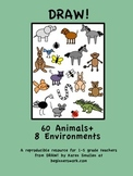 DRAW! 60 Animals and 8 Environments by Karen Smullen