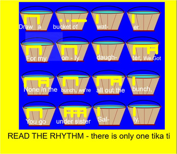 DRAW A BUCKET OF WATER - version 2 - SMARTboard- Interactive- ti tika Rhythm