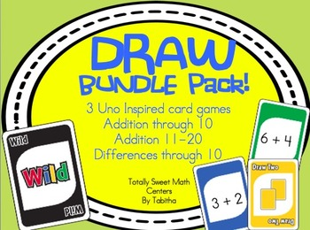 DRAW (An Uno Inspired Card Game) Adding  & Subtracting Bundle Pack!
