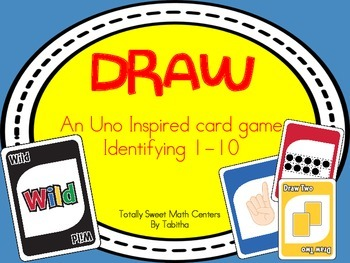 DRAW (An Uno Inspired Card Game) Identifying numbers 1-10