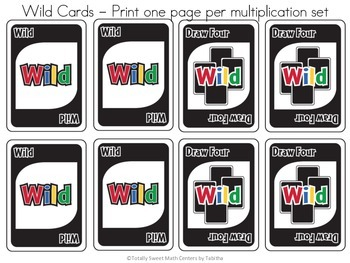 DRAW (An Uno Inspired Card Game) Multiplication Bundle Pack