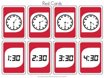 DRAW (An Uno Inspired Card Game) Telling Time to the Half Hour