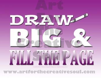 DRAW BIG Poster