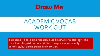 DRAW ME - STAAR Science Vocabulary Game (5th grade)