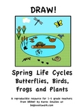 DRAW! Spring Life Cycles Butterflies, Birds, Frogs and Plants