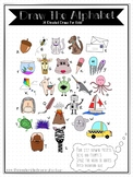 DRAW THE ALPHABET 26 Directed Draw PDF ebook for kids!