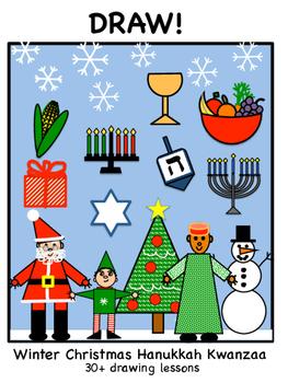 DRAW! - Winter Christmas Hanukka and Kwanzaa