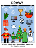 DRAW! - Winter Christmas Hanukka and Kwanzaa