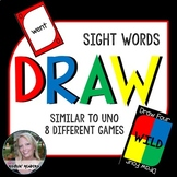 Uno Cards Sight Word Uno