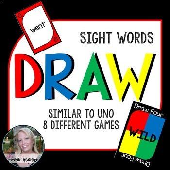 Uno Cards Sight Word Uno