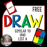 DRAW (a sight word game similar to UNO) FREEBIE LIST A
