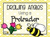 DRAWING ANGLES USING A PROTRACTOR