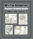 """DRAWING BUNDLE!!! """"Learn to Draw!"""" Line/Shape Lessons"""