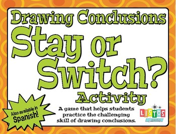 DRAWING CONCLUSIONS 'Stay or Switch?' Activity